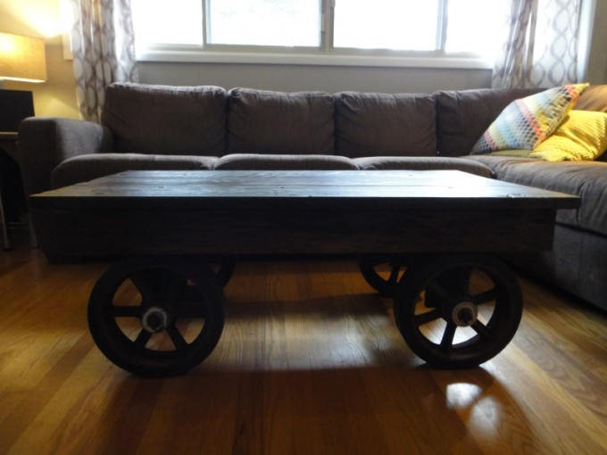 industrial barn board coffee table - Barn Board Coffee Tables
