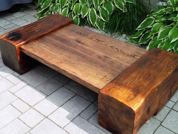 Massieve Side Table.Massive Barn Beam And Threshing Coffee Table Ibuildfurniture