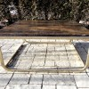 Square Coffee Table On Reclaimed Base
